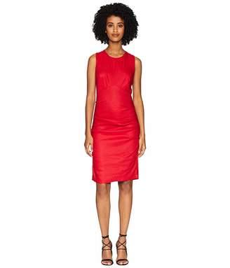 Nicole Miller Cross-Back Tuck Dress