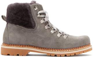 Montelliana - Camelia Suede Boots - Womens - Light Grey
