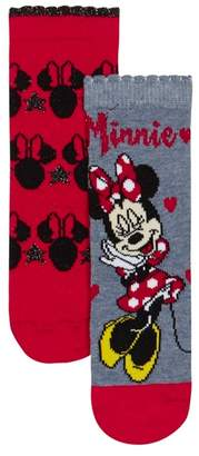 Character Disney - 'Pack Of Two Girls' Red And Blue Mini Mouse Socks