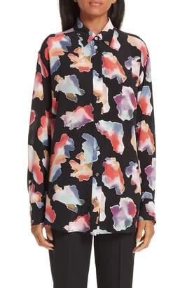 Sies Marjan Sander Tie Dye Print Silk Shirt