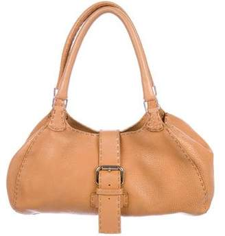 Fendi Selleria Leather Shoulder Bag