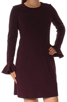 Calvin Klein Women's Long Sleeve Round Neck Sheath Dress