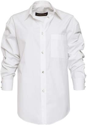 Alexandre Vauthier Embellished Button Down Cotton Shirt
