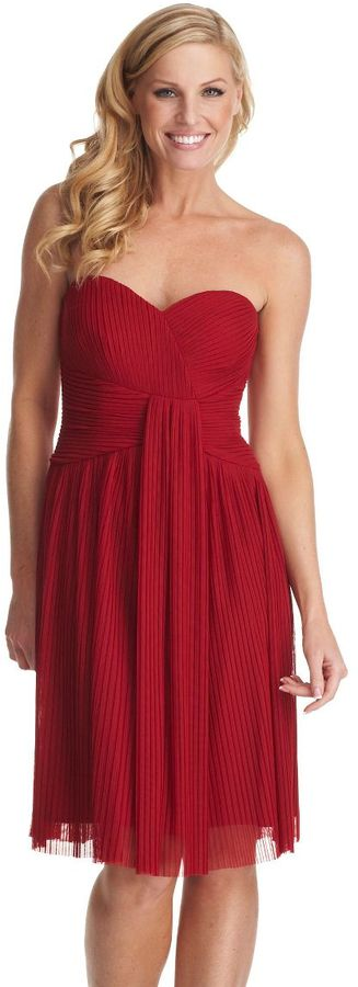 Calvin klein mesh strapless dress