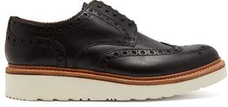 Grenson Archie raised-sole leather oxford brogues