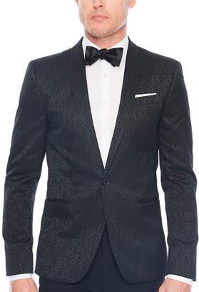 Jf J.Ferrar Floral Super Slim Fit Tuxedo Jacket - Slim