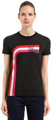 Miu Miu Club Print Cotton Jersey T-Shirt