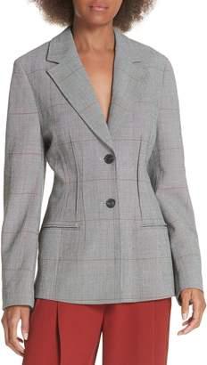3.1 Phillip Lim Checkered Wool Blend Blazer