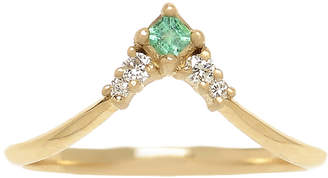 Michelle Fantaci Emerald Nomad Arrow Ring