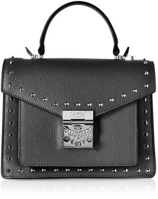 MCM Small Patricia Studded Park Avenue Satchel Bag