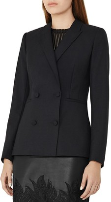 REISS Mossy Double-Breasted Blazer $425 thestylecure.com