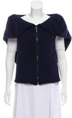 Cacharel Zip-Up Wool Vest