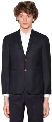Thom Browne Single Breasted 120s Wool Twill Jacket