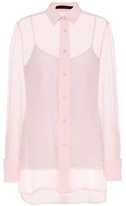 Max Mara Rose silk chiffon blouse