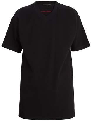 Y/Project Double-collar cotton-piqué T-shirt