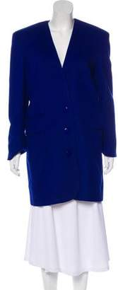 Alberta Ferretti Wool & Cashmere Knee-Length Coat