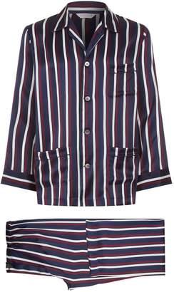 Derek Rose Graphic Print Silk Pyjama Set
