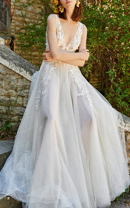Costarellos Bridal Ethereal V-neck Gown