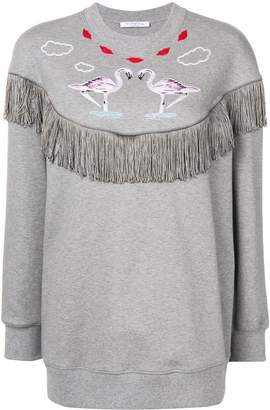 VIVETTA fringe detail sweatshirt