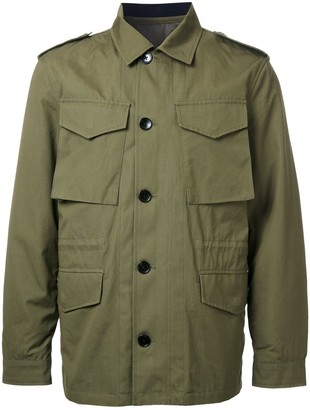 52530087 Kent & Curwen detachable quilted military jacket