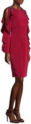 Theia Women's Ruffle Cold-Shoulder Dress