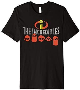 Disney Pixar Incredibles 2 Silhouette Faces Premium T-Shirt