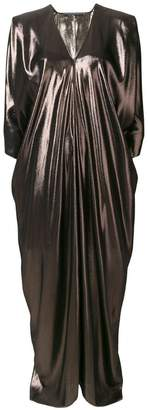 Alberta Ferretti long flared metallic dress
