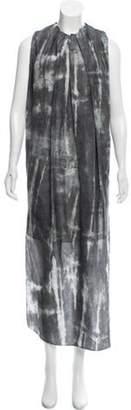 Acne Studios Sleeveless Silk Dress Grey Sleeveless Silk Dress