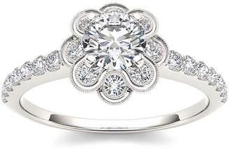 MODERN BRIDE 1 1/4 CT. T.W. Diamond 14K White Gold Engagement Ring
