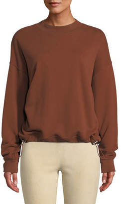 Vince Mock-Neck Drawstring Pullover Sweater