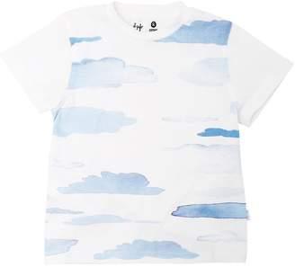 Il Gufo Clouds Print Cotton Jersey T-Shirt