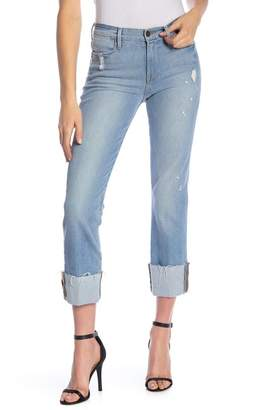 Frame Le High Straight Cuffed Jeans