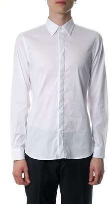 Mauro Grifoni White Cotton Poplin Shirt