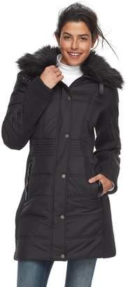 Women's Weathercast Faux-Fur Trim Puffer Jacket