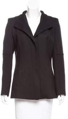 Reiss Standing Collar Woven Jacket