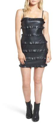 Bailey 44 Dark Wave Faux Leather Body-Con Dress