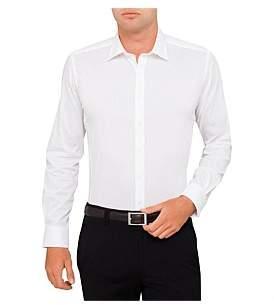 Geoffrey Beene Huckleberry Dobby Stretch Body Fit Shirt