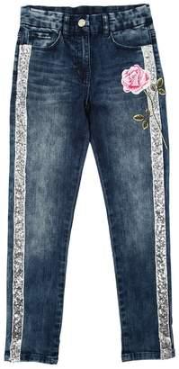 MonnaLisa Embellished Stretch Cotton Denim Jeans