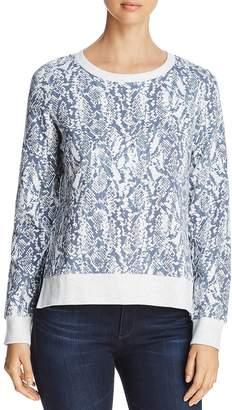 Andrew Marc Performance Snake-Print Cotton Sweatshirt