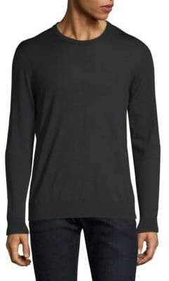 Kiton Black Knit Crewneck Sweater