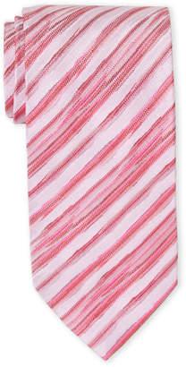 Missoni Red & Pink Stripe Silk Tie
