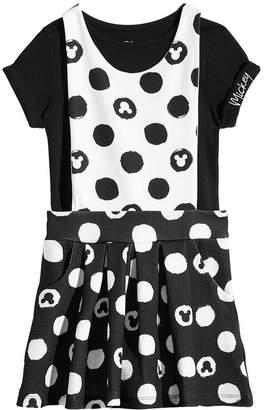 Disney Toddler Girls 2-Pc. Mickey Mouse T-Shirt & Jumper Set