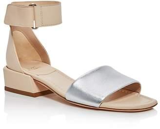 Stuart Weitzman Women's Oneway Leather Color-Block Sandals