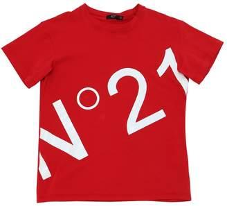 N°21 Oversize Cotton Jersey T-Shirt