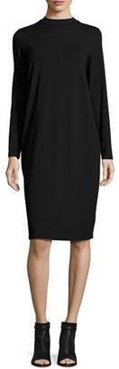 Eileen Fisher Funnel-Neck Jersey Dress $198 thestylecure.com