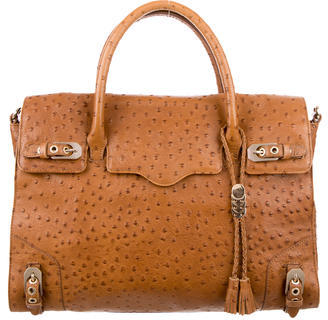 Rebecca Minkoff Embossed Leather Satchel $125 thestylecure.com