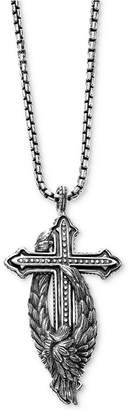 "Scott Kay Men's Cross & Wing 26"" Pendant Necklace in Sterling Silver"