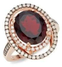 LeVian Exotics 14k Rose Gold Ring & Garnet Ring