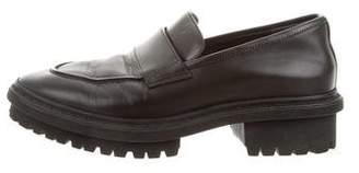 Balenciaga Leather Round-Toe Loafers