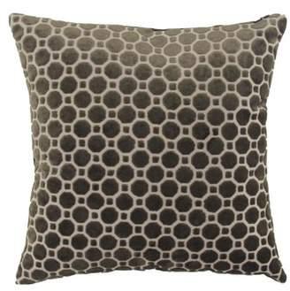 DecMode Decmode Modern 17 X 17 Inch Black Throw Pillow With Geometric Patterns